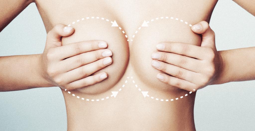 Подтягивающий массаж груди