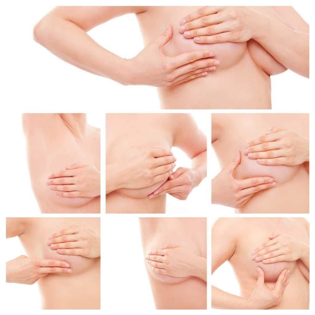 Схема массажа груди